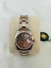 Rolex Lady Datejust 28mm Everose Gold/Steel Sundust Dial #279171 New