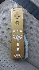 Nintendo Wii Legend of Zelda Skyward Sword Motion Plus Gold Remote Controller