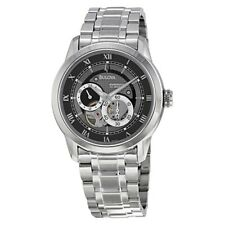 """Bulova Mens """"BVA"""" Automatic Stainless Steel Watch with Link Bracelet 96A119"""