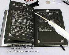 Anime japonais,Death Note Cosplay Film Replica Quill Notebook + Feather Pen