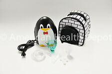 Child Pediatric Nebulizer Aerosol Compressor with Kit treats Asthma COPD Penguin