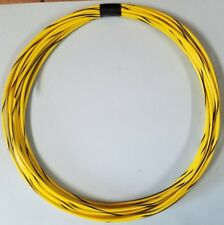 16 ga GAUGE GPT AUTOMOTIVE COPPER WIRE - 25 FT - YELLOW W/ BLACK STRIPE