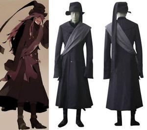Black Butler Kuroshitsuji Undertaker Cosplay Uniform Costume set