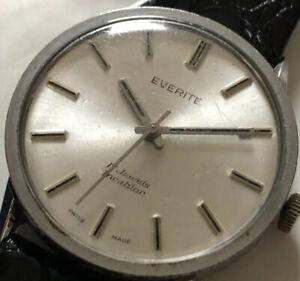 Vintage Working Everite men's 17 Jewels watch Mechanical Hand Wind Wristwatch