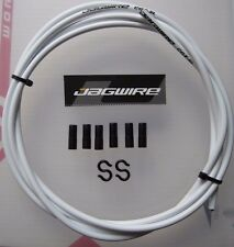 JAGWIRE WHITE CGX-SL OUTER BRAKE CABLE - 2 METRES + 6 Black end ferrules/S HOOKS