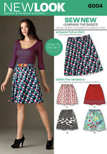 Simplicity New Look Sewing Pattern women's classic pull on skirt 6004