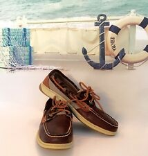 SPERRY Top-Sider Boat Shoes Leather & Canvas Size 9