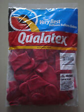 """BALLOONS QUALATEX RUBY RED HEART 15"""" 50PCS PARTIES BIRTHDAYS DECORATIONS NOVELTY"""