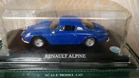 Del Prado 1976 Renault Alpine Blue 1:43 Diecast Sports Car Berlinette Toy