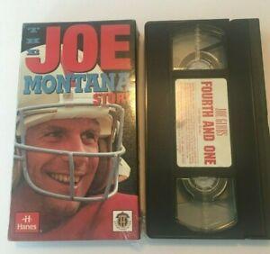 The Joe Montana Story & Joe Gibbs  Fourth  and One VHS Video movies tapes NFL