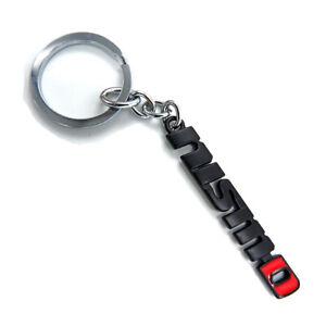"For Nissan Np300 Juke 2000 16 18 Key Chain Holder Ring ""NISMO"" Chrome Red Black"