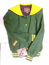 NOS Vtg '90's Holloway Varsity Cheerleading Jacket Size Large USA Green Gold!
