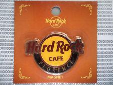 HARD ROCK CAFE FLORENCE ITALY - ROUND LOGO - CITY MAGNET ( not bottle opener )
