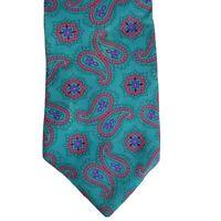 Perry Ellis Mens Silk Tie Paisley Made in the USA Portfolio Neckwear Necktie