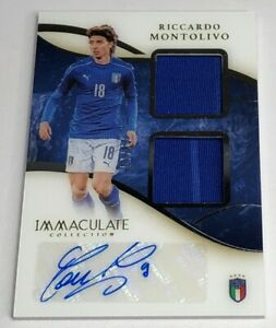 2020 Immaculate Riccardo Montolivo Dual Patch Auto #d 13/67