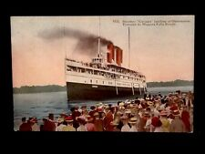c1910 S.S.Line Steamer Cayuga At Queenston, Canada Vintage DB Postcard