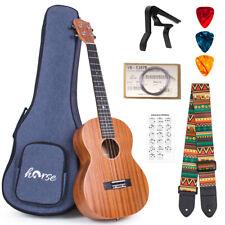 More details for baritone ukulele 30 inch ukelele mahogany for beginner w/bag tuner strap string