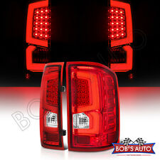 14-17 GMC Sierra 1500 2500 3500 [NEW] Red Error Free Neon Tube LED Tail Lights