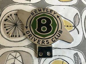 BENTLEY DRIVERS CLUB ENAMEL CAR BADGE EMBLEM Mascot Hood Ornament