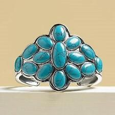 SUZANNE SOMERS NAVAJO INSPIRED TURQUOISE SILVER CUFF BRACELET SRP $249 NIB