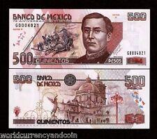 MEXICO 500 PESOS P115 2000 *COMMEMORATIVE UNC 75 ANY.HORSE GUN BATTLE SCENE NOTE