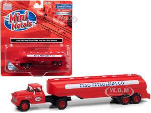 1957 CHEVROLET TANKER TRUCK ESSO PETROLEUM RED 1/87 HO CLASSIC METAL WORKS 31195