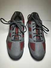 Dexter Bowling Shoes Mens Size 8 Grey And Maroon Slide Rite. Very Good Condition
