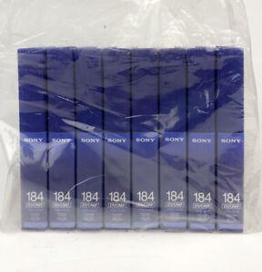 Lot of 8 Sony PDV-124N & PDV-184N DVCAM Cassette Tapes
