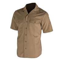 Defense Logistics Agency Men's USMC ARMY/NAVY Men's NSU Shirt  Khaki Size Meduim