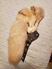 Anita Page White Fox Fur Collar Piece...Estate Clothing of Silent Film Star