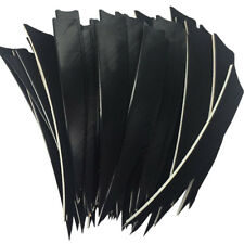 Archery Fletches 5inch Shield Cut White Feather Fletching RW - 50PCS