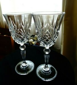 Set of 2 stemmed lead crystal wine glasses 200 ml