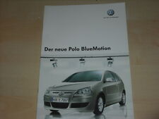 47508) VW Polo 9N BlueMotion Prospekt 06/2006