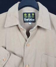 BARBOUR Mens Tan Chamois Flannel L/S Button-Down Shirt M Medium