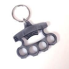 Felon Clothing Lucky 13 Brass Knuckle Bottle Opener Key Chain Punk Rockabilly