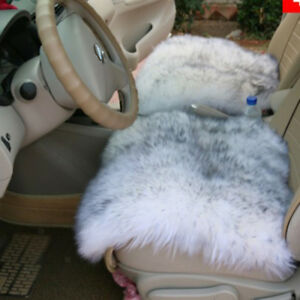 Faux Sheepskin Fluffy Rug Bedroom Floor Carpet Car Seat Cushion White Gray