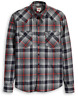 Levi's Men's Western Long Sleeve Grey Red Classic Fit Stretch Cotton Shirt XL