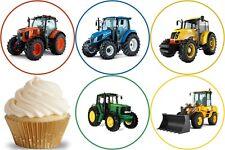 24 Muffin / Cupcake Tracteur Ferme Déco Gateau Disque Azyme Comestible