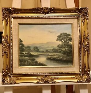Oil on Board in a Stunning Ornate Gilt Frame Signed W.Reeves