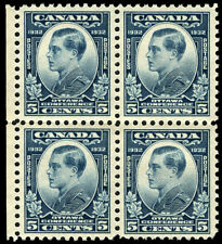 Canada #193 5c Dull Blue 1933 Prince of Wales *MNH* Block of 4 Gem P.O. Fresh