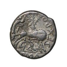 Roman Republic Sex. Pompeius Fostlus Silver Denarius 136 BC Ancient Coin Syd.461