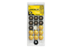 NRL Pool Snooker Billiards 16 Ball Full Set - Team VS Colour - West Tigers