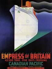 TRAVEL IMPERATRICE D'INGHILTERRA Canada NAVE DA CROCIERA vintage poster pubblicitari 2371py