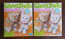 LOT of 2 Glove Dolls 4M Making Kits Factory Sealed Plastic Green Creativity