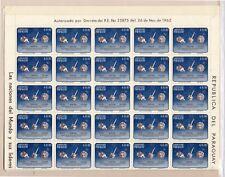 Paraguay Espacio valor en pliego de 50 año 1964 (DK-513)