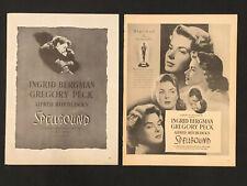 SPELLBOUND Original 1945 Magazine Advertisements (2) - ALFRED HITCHCOCK