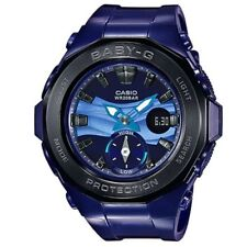 Casio Baby-G BGA-220B-2A Blue Beach Series Women's Digital Analog Sports Watch