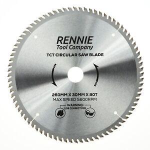 260mm x 30mm x 80T TCT Circular Wood Saw Blade For Bosch, Makita, Dewalt, Mitre