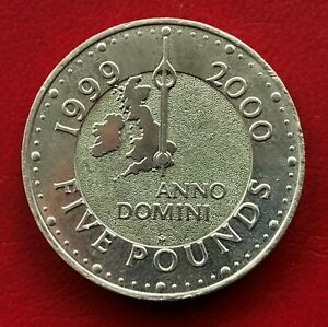 G.B, 1999, Millenium Five Pounds Coin