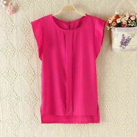 Women Casual Flutter Sleeve Chiffon T-shirt Ladies Tank Tops Vest Blouse